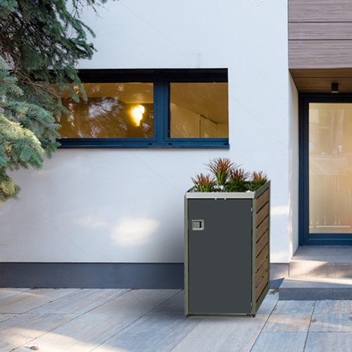 Modernes Haus Design Materialien Farben Gegensatz | 1er Mulltonnenbox Kreiselmeyer Design Onlineshop